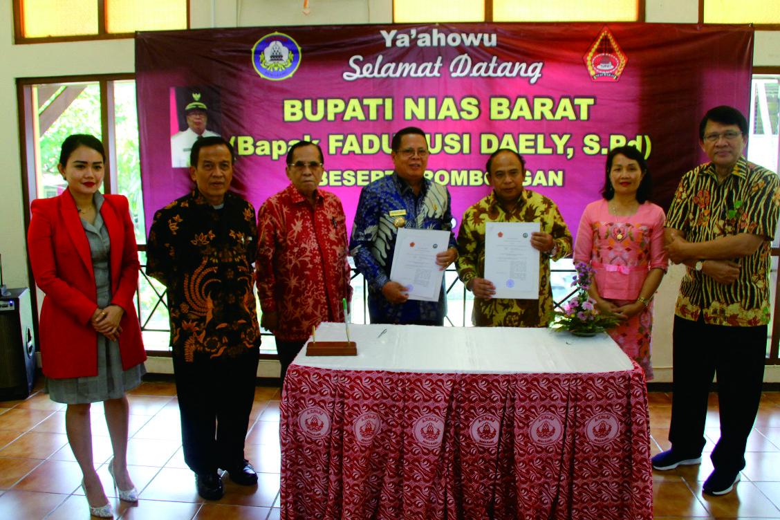 Penandatanganan Mou Kerjasama Kabupaten Nias Barat